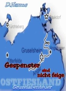 Mit dieser fiktiven Landkarte von Fiesland war das Cover seinerzeit bei bookrix verziert, wo die Geschichte entstand.
