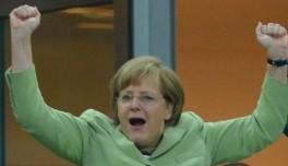 Auch 2016 wieder live zu sehen: Der Merkel-Jubler.