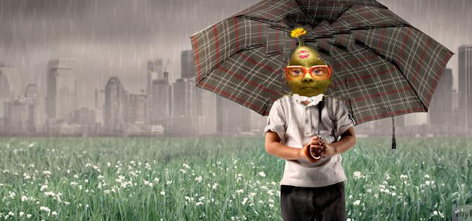 Bloß nicht raus in den Regen … Bildgedicht